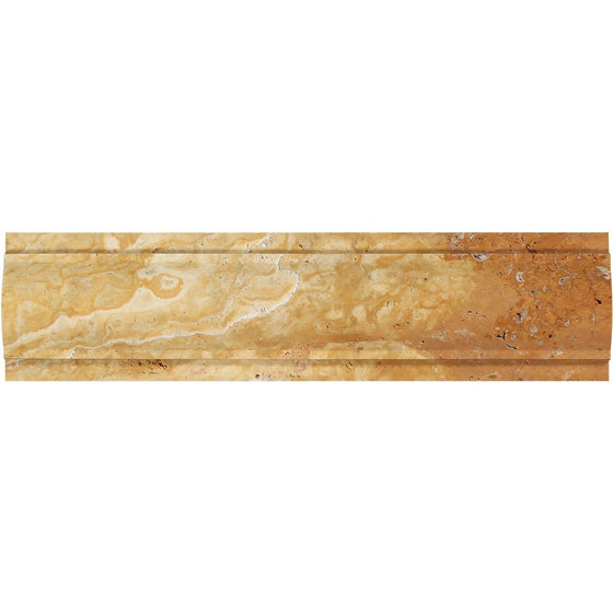 3 x 12 Honed Gold Travertine Arch Molding - Tilephile