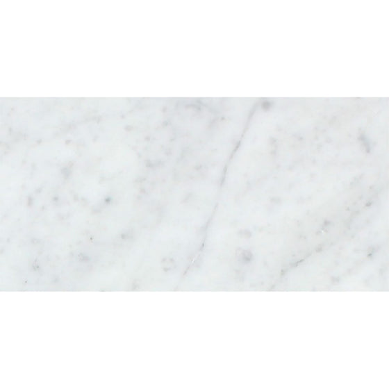 3 x 6 Honed Bianco Carrara Marble Tile