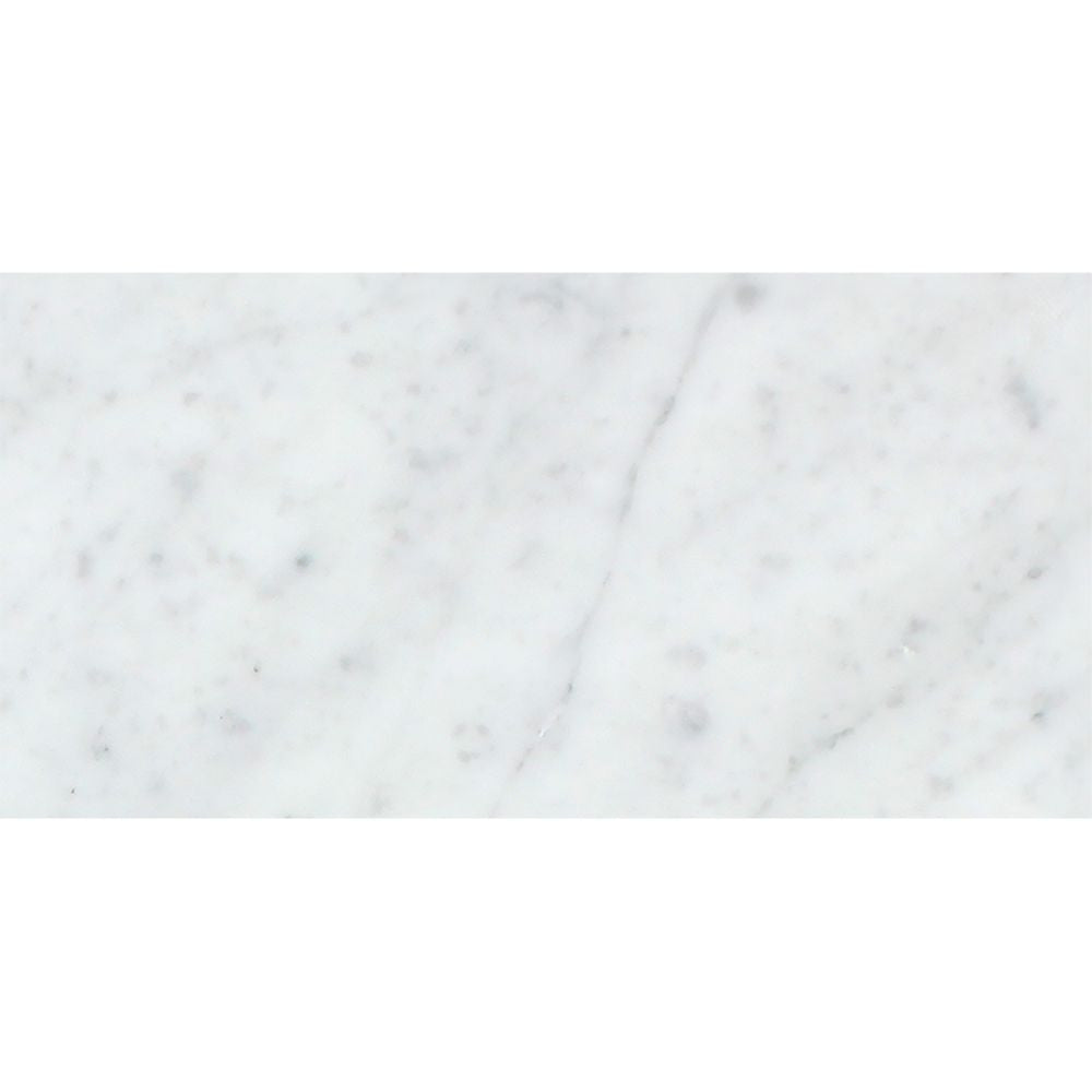 3 x 6 Honed Bianco Carrara Marble Tile Sample