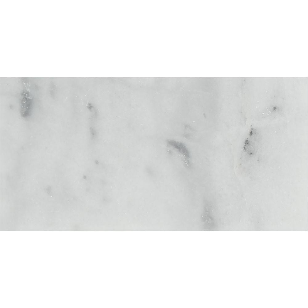3 x 6 Honed Bianco Mare Marble Tile Sample - Tilephile