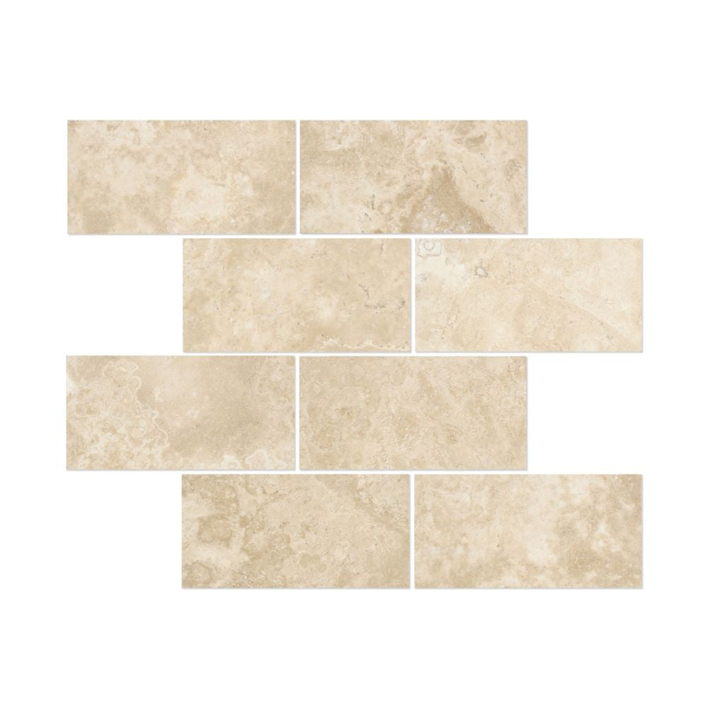 3 x 6 Honed Durango Travertine Tile - Tilephile