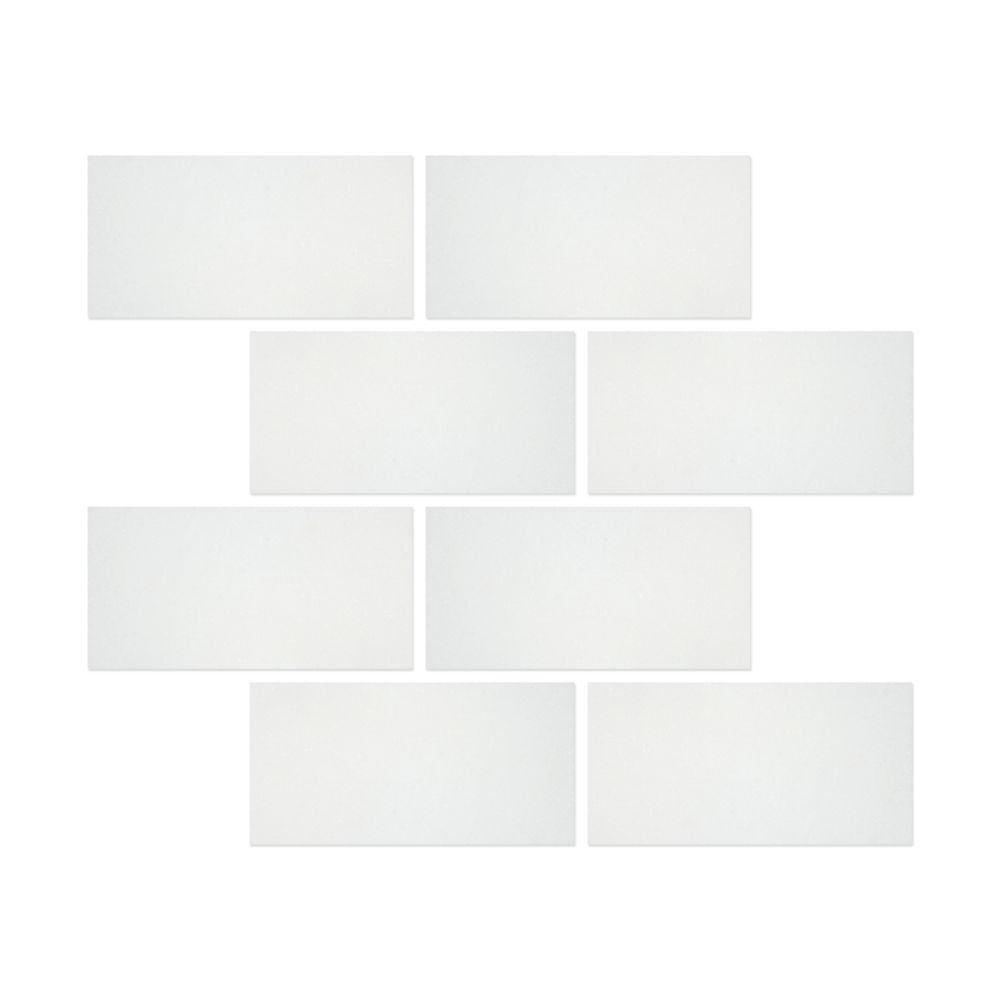 3 x 6 Honed Thassos White Marble Tile - Tilephile