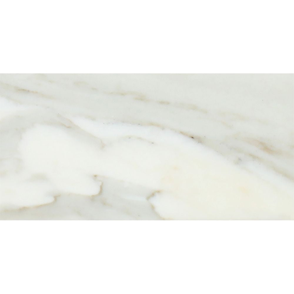 3 x 6 Polished Calacatta Gold Marble Tile Sample - Tilephile