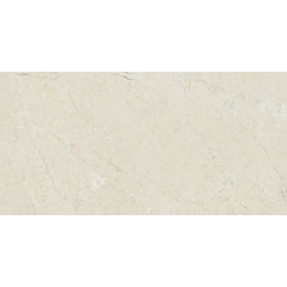3 x 6 Polished Crema Marfil Marble Tile