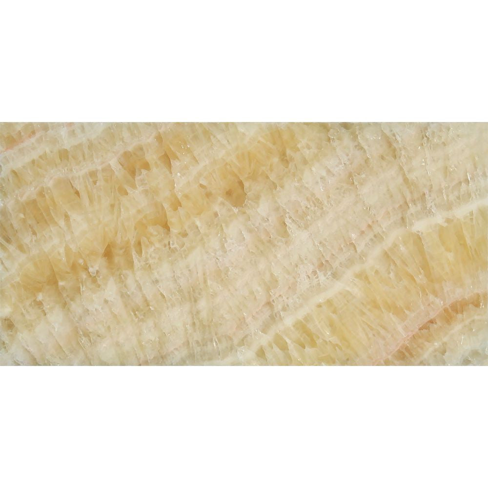 3 x 6 Polished Honey Onyx Tile Sample - Tilephile