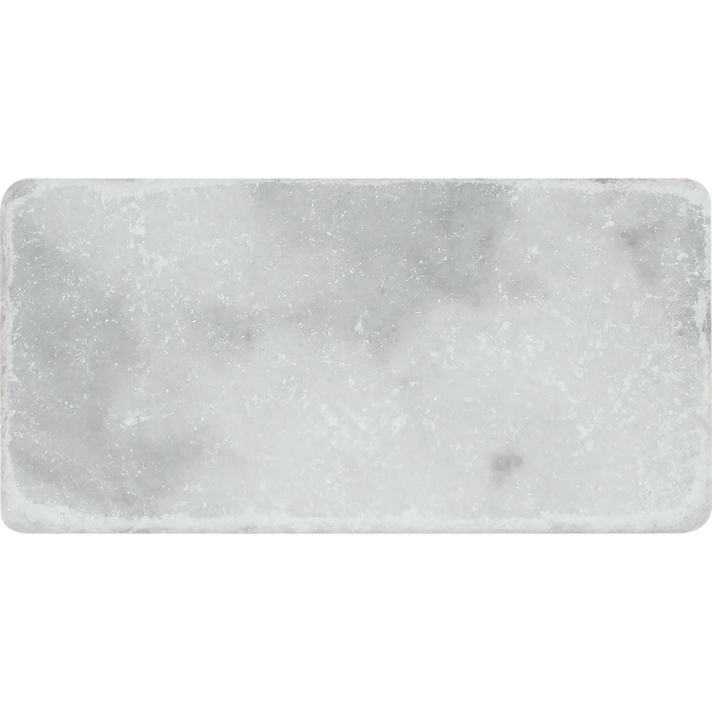 3 x 6 Tumbled Bianco Mare Marble Tile - Tilephile