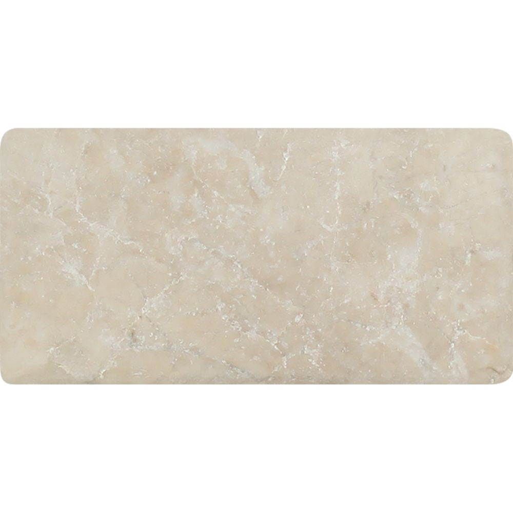 3 x 6 Tumbled Cappuccino Marble Tile Sample - Tilephile