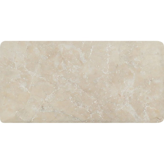 3 x 6 Tumbled Cappuccino Marble Tile