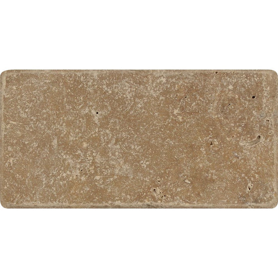 3 x 6 Tumbled Noce Travertine Tile - Tilephile