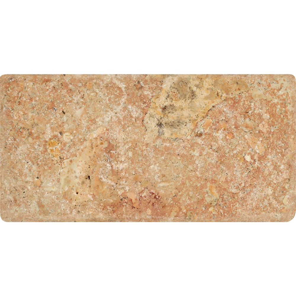 3 x 6 Tumbled Scabos Travertine Tile Sample - Tilephile