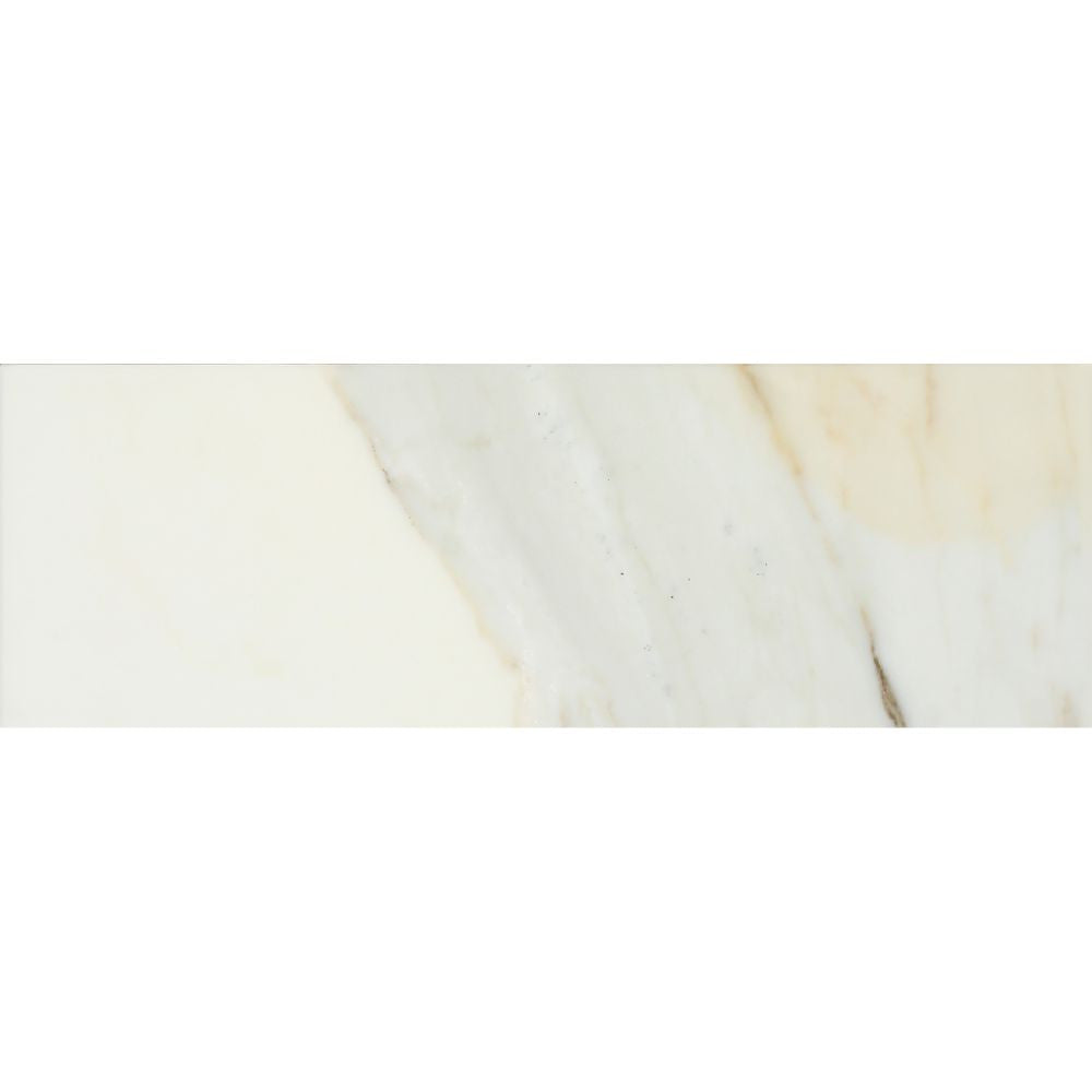 4 x 12 Honed Calacatta Gold Marble Tile Sample - Tilephile