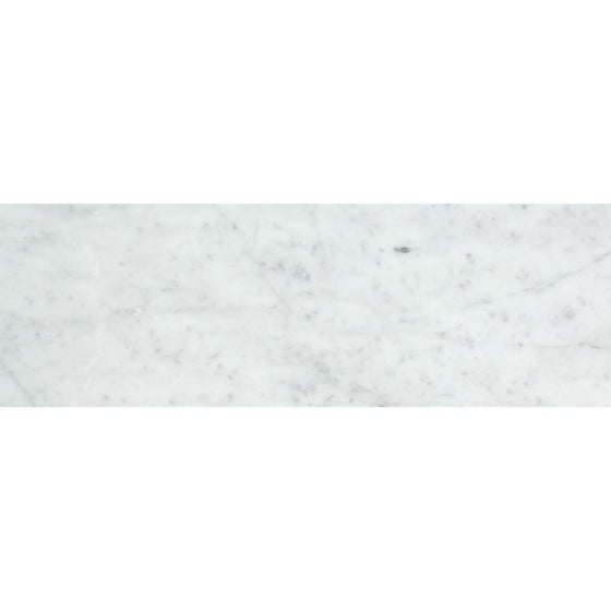 4 x 12 Polished Bianco Carrara Marble Tile - Tilephile