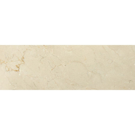4 x 12 Polished Crema Marfil Marble Tile - Tilephile