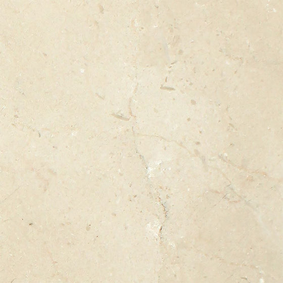 4 x 4 Polished Crema Marfil Marble Tile - Tilephile