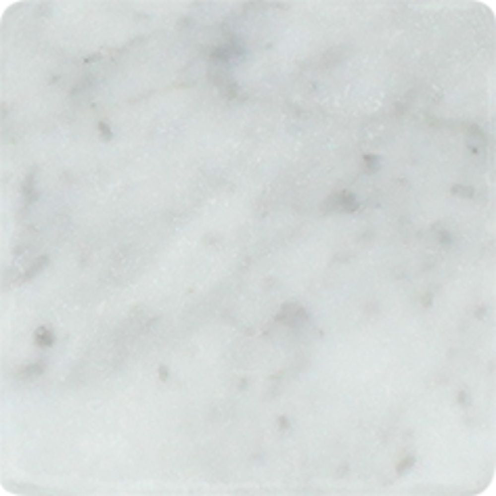 4 x 4 Tumbled Bianco Carrara Marble Tile Sample