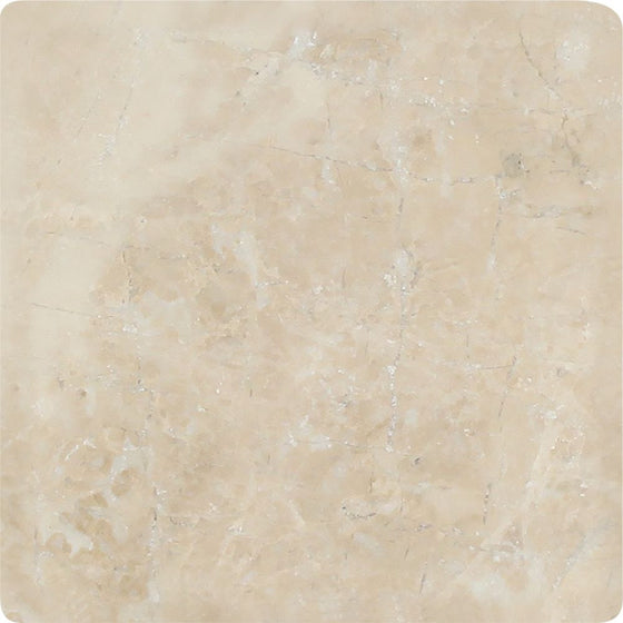 4 x 4 Tumbled Cappuccino Marble Tile - Tilephile