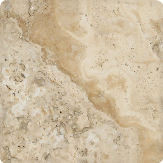 4 x 4 Tumbled Philadelphia Travertine Tile - Tilephile
