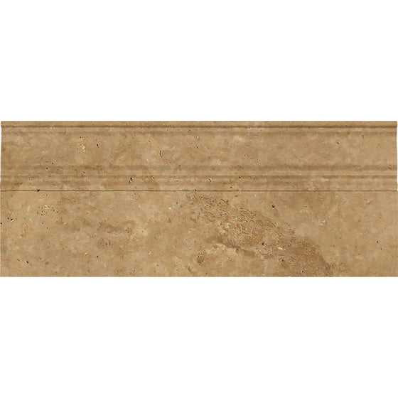 5 x 12 Honed Noce Travertine Baseboard Trim
