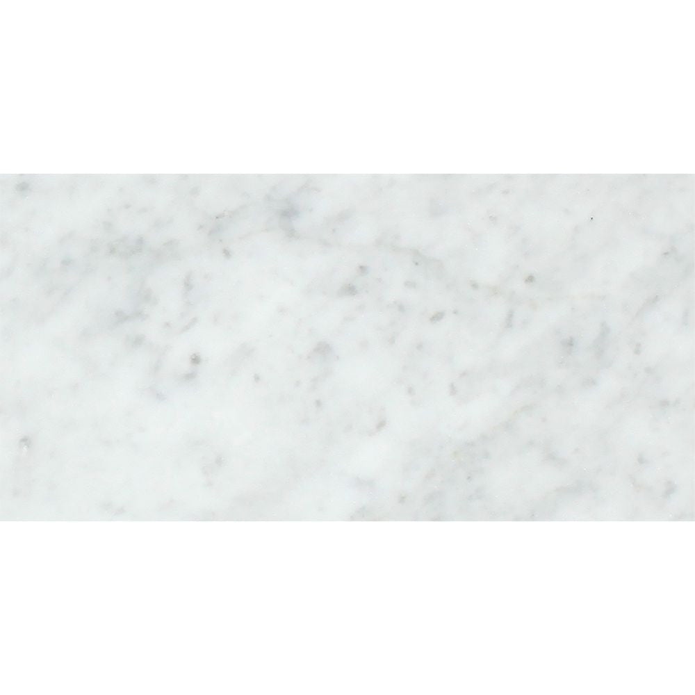 6 x 12 Polished Bianco Carrara Marble Tile Sample - Tilephile