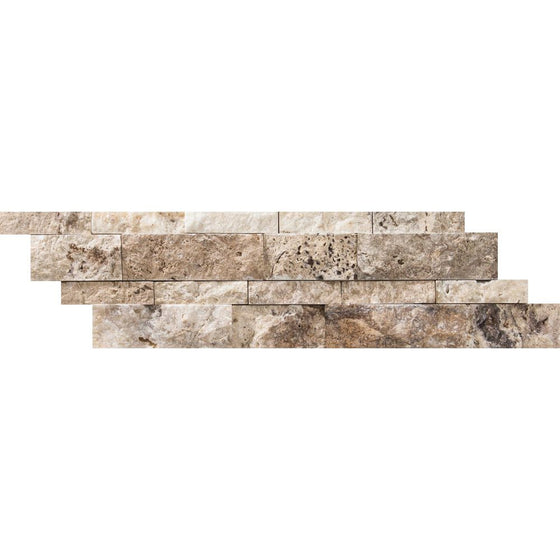 6 x 24 Split-faced Philadelphia Travertine Ledger Panel - Tilephile