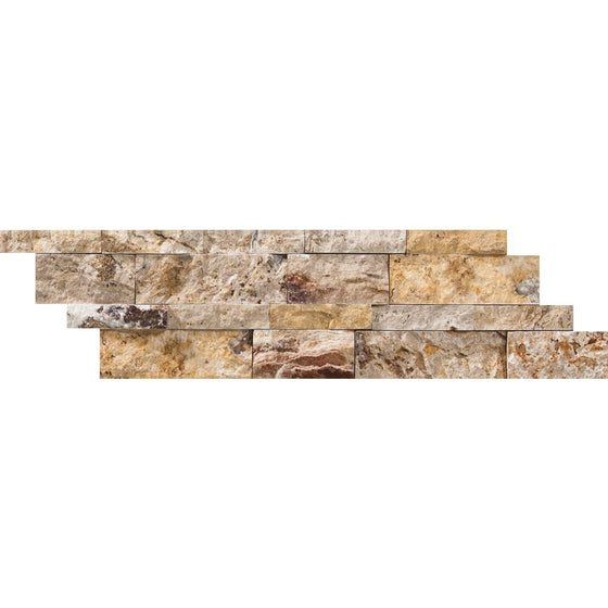 6 x 24 Split-faced Scabos Travertine Ledger Panel - Tilephile