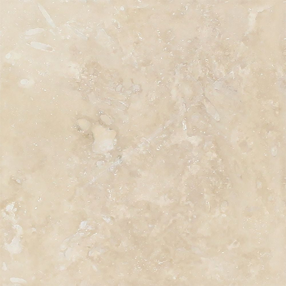 6 x 6 Honed Ivory Travertine Tile Sample