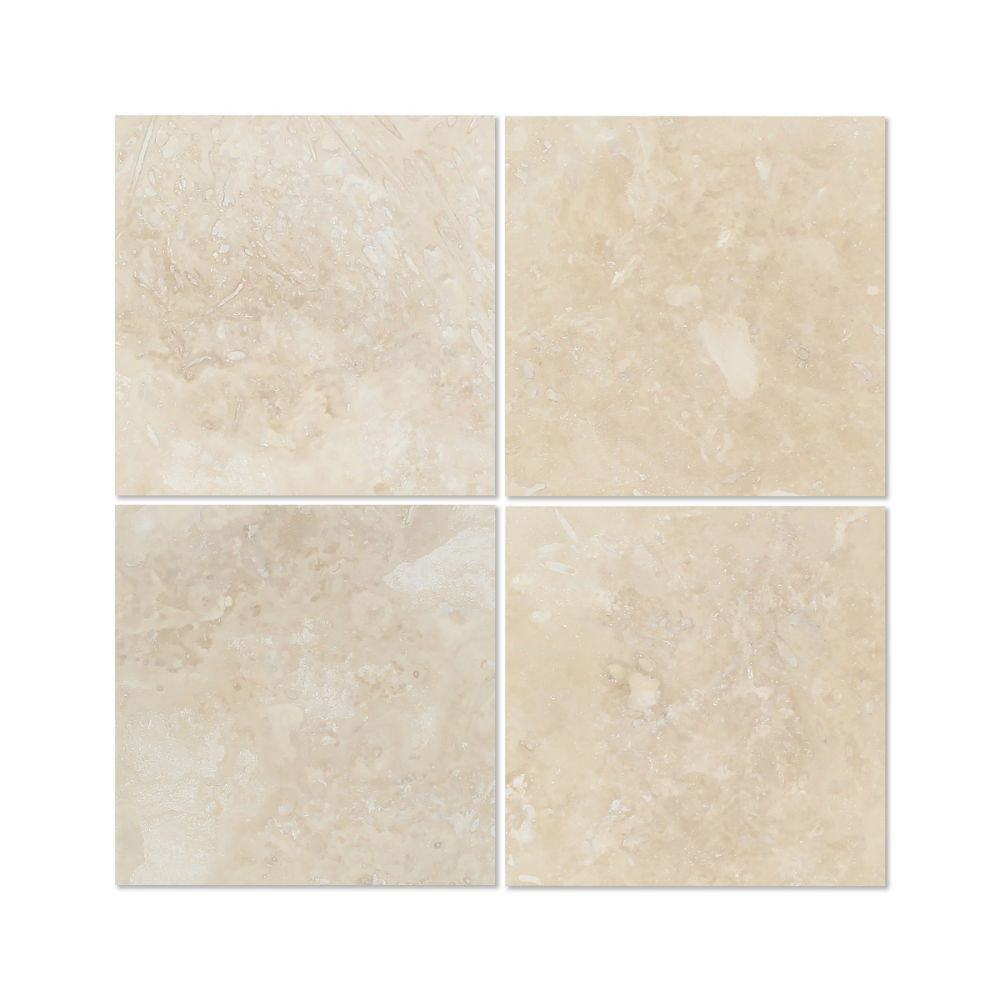 6 X 6 Honed Ivory Travertine Tile Tilephile