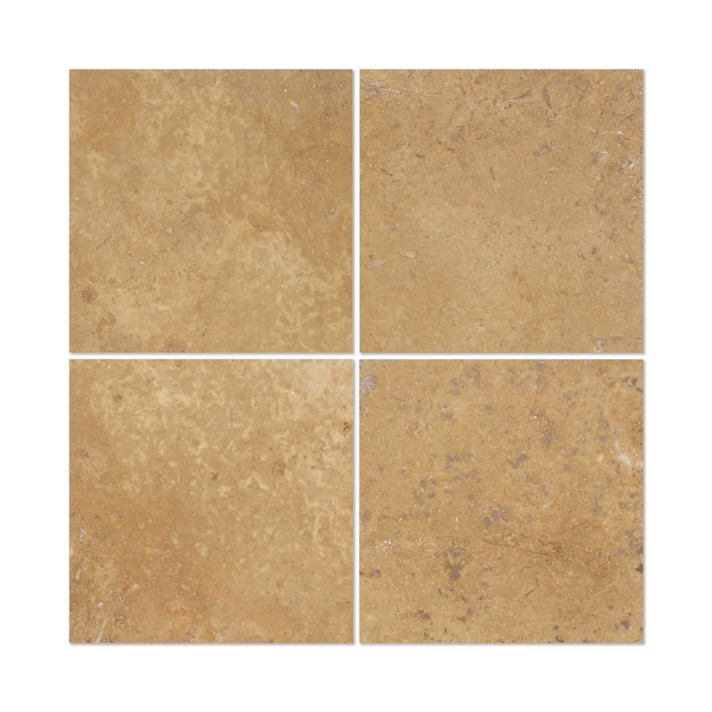 6 X 6 Honed Noce Travertine Tile Tilephile