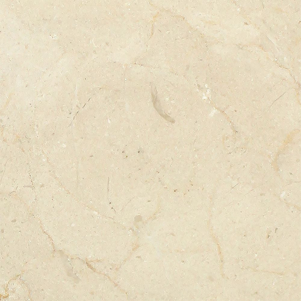 6 x 6 Polished Crema Marfil Marble Tile Sample - Tilephile