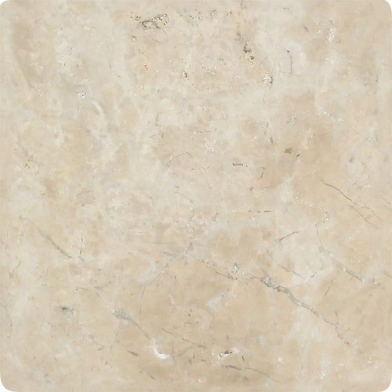 6 x 6 Tumbled Cappuccino Marble Tile - Tilephile