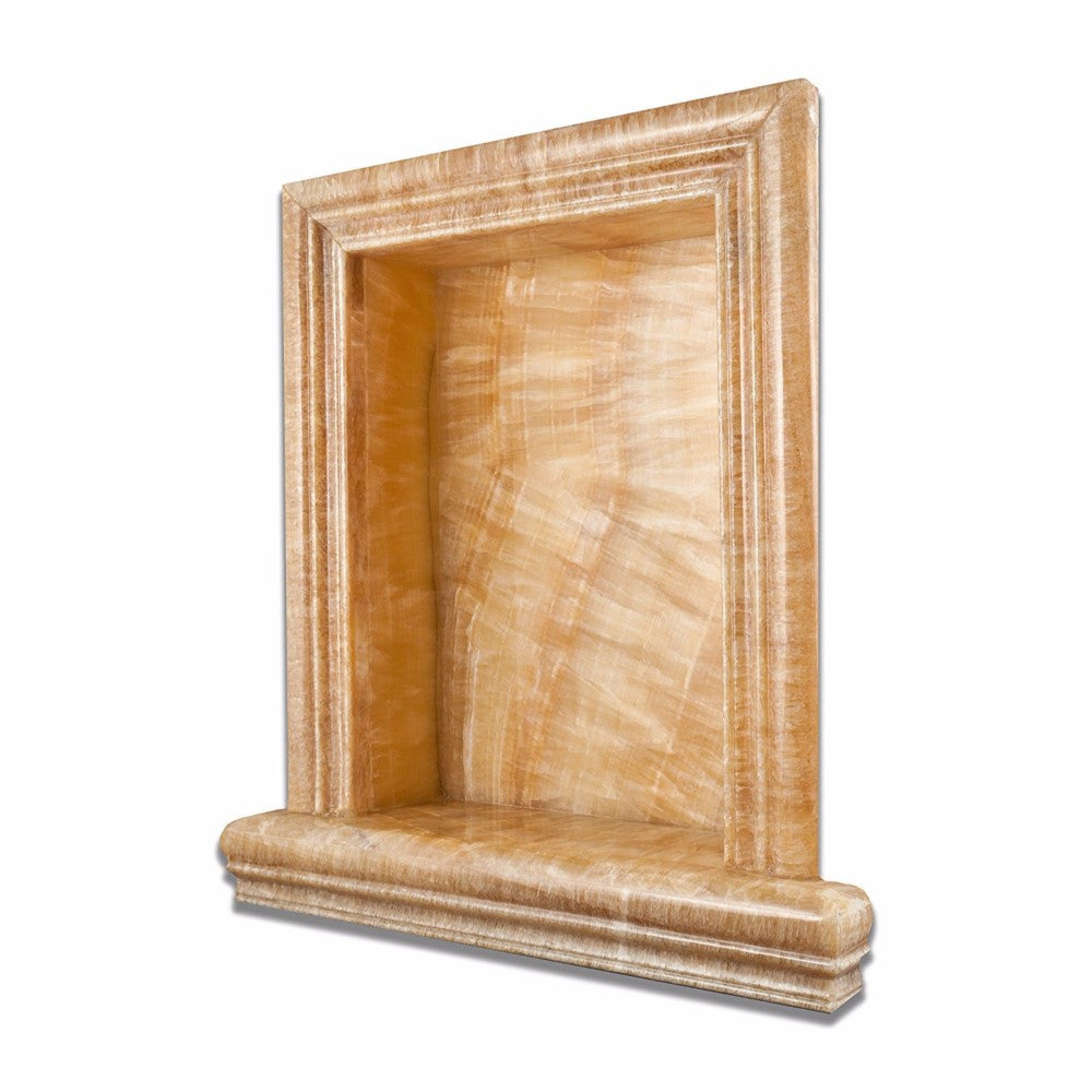 Honey Onyx Polished Hand-Made Custom Shampoo Niche / Shelf - Large - Tilephile