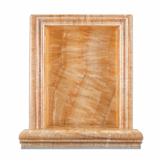 Honey Onyx Polished Hand-Made Custom Shampoo Niche / Shelf - Large