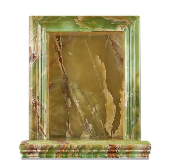 Green Onyx Polished Hand-Made Custom Shampoo Niche / Shelf - Large