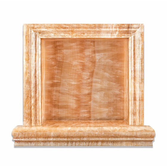 Honey Onyx Polished Hand-Made Custom Shampoo Niche / Shelf - Small