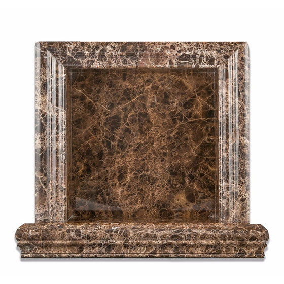 Emperador Dark Marble Polished Hand-Made Custom Shampoo Niche / Shelf - Small