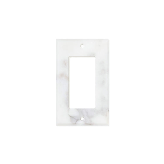 Calacatta Gold Marble Switch Plate Cover, Honed (SINGLE ROCKER) - Tilephile