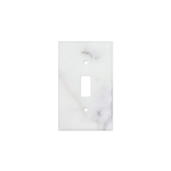 Calacatta Gold Marble Switch Plate Cover, Honed (SINGLE TOGGLE)