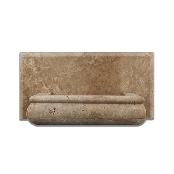 Walnut Travertine Honed Hand-Made Custom Soap Holder