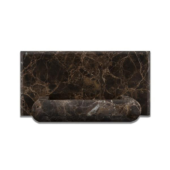 Emperador Dark Marble Polished Hand-Made Custom Soap Holder