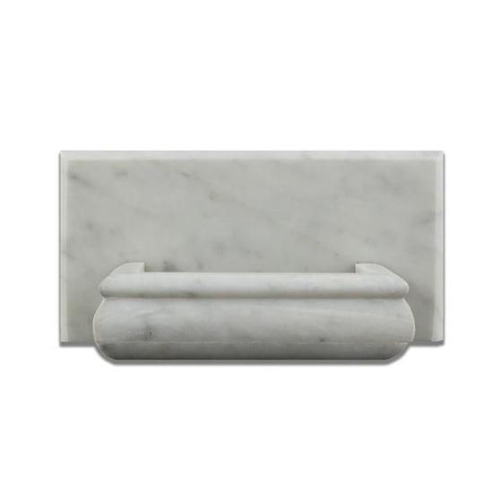 Bianco Carrara Marble Honed Hand-Made Custom Soap Holder