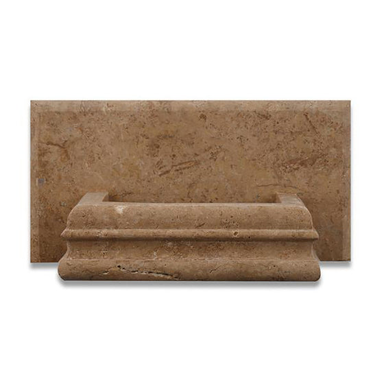 Noce Travertine Honed Hand-Made Custom Soap Holder