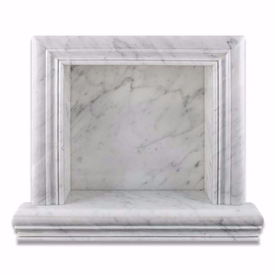 Bianco Carrara Marble Honed Hand-Made Custom Shampoo Niche / Shelf - Small - Tilephile