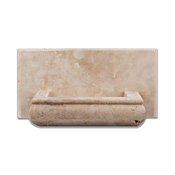 Ivory Travertine Honed Hand-Made Custom Soap Holder