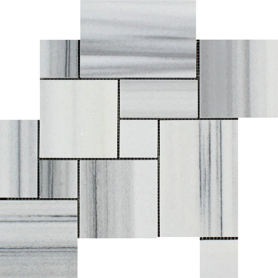 Mink  (Marmara) Marble Polished OPUS Mini-Pattern Mosaic Tile (Interlocking)