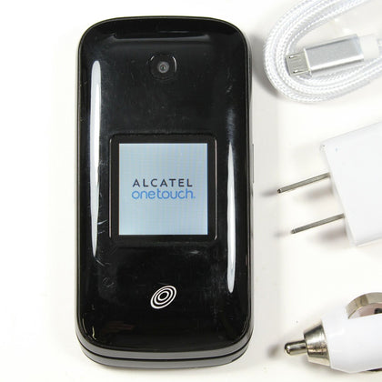 Alcatel OneTouch A394C (Tracfone) Flip Phone - CDMA 3G - Black - Fast Shipping!