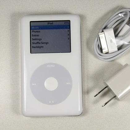 Apple iPod Photo Classic 4th Generation (20GB) White - A1099 - Rare Color Screen