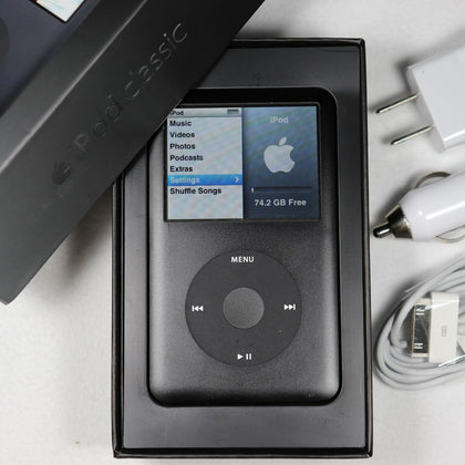 Apple iPod Classic 6th Gen (80GB) A1238 Black MP3 Video Player S/N: 8K802BZZYMV