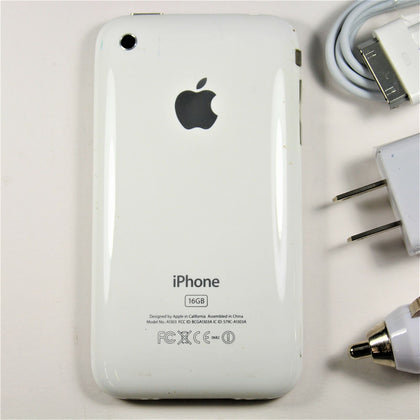 Apple iPhone 3GS (AT&T) Smartphone 16GB Rare White A1303 IMEI: 011950009653232