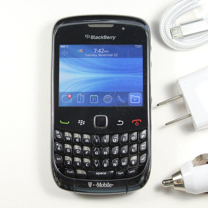 Blackberry Curve 3G 9300 (T-Mobile) QWERTY Phone - GPS, WIFI DATA, 2MP Camera,