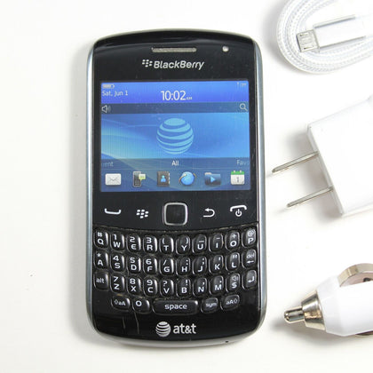Blackberry Curve 9360 (AT&T) Silver QWERTY Phone - GPS, WIFI DATA, 2MP Camera,